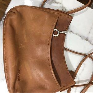 Fossil mini shoulder bag 2 zip compartments